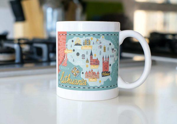 lithuania map on mug